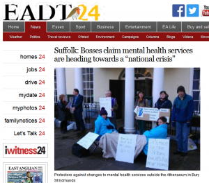 "EADT: Suffolk: Bosses claim mental health services are heading towards a ""national crisis"""