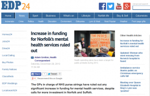 EDP: GPs refuse to increase funding despite mental health crisis