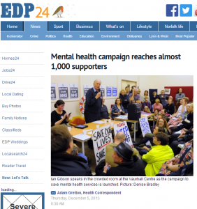 Mental health campaign reaches almost 1,000 supporters - Health - Eastern Daily Press(1)