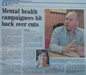 EADT: Mental health campaigners hit back over cuts (and NSFT insults Campaign again)