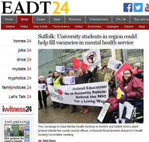 EADT Suffolk: University students in region could help fill vacancies in mental health service