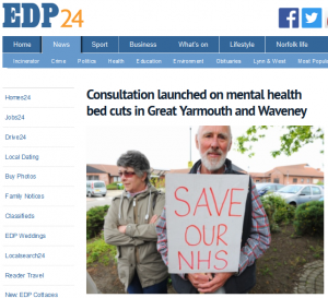 Campaign's response to the consultation launched on NSFT's astonishing proposal to cut another 25 beds in Great Yarmouth and Waveney