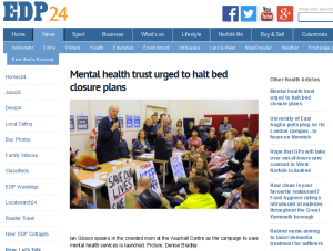 EDP: Mental health trust urged to halt bed closure plans