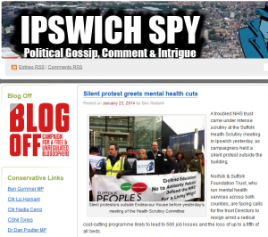 Ipswich Spy: Silent protest greets mental health cuts
