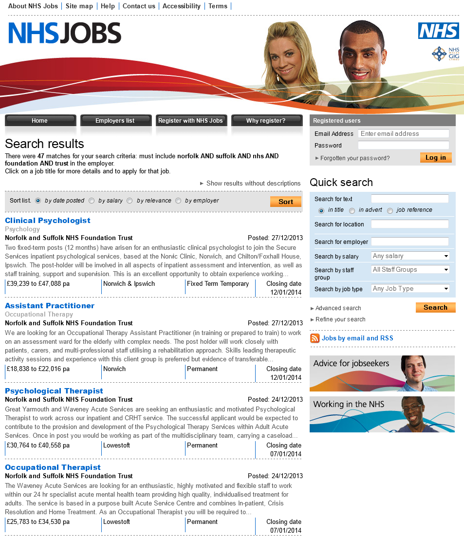 NHSJobs NSFT Vacancies 28.12.13 page 1