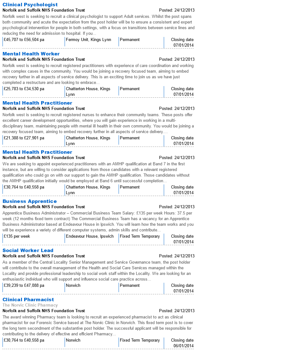 NHSJobs NSFT Vacancies 28.12.13 page 2