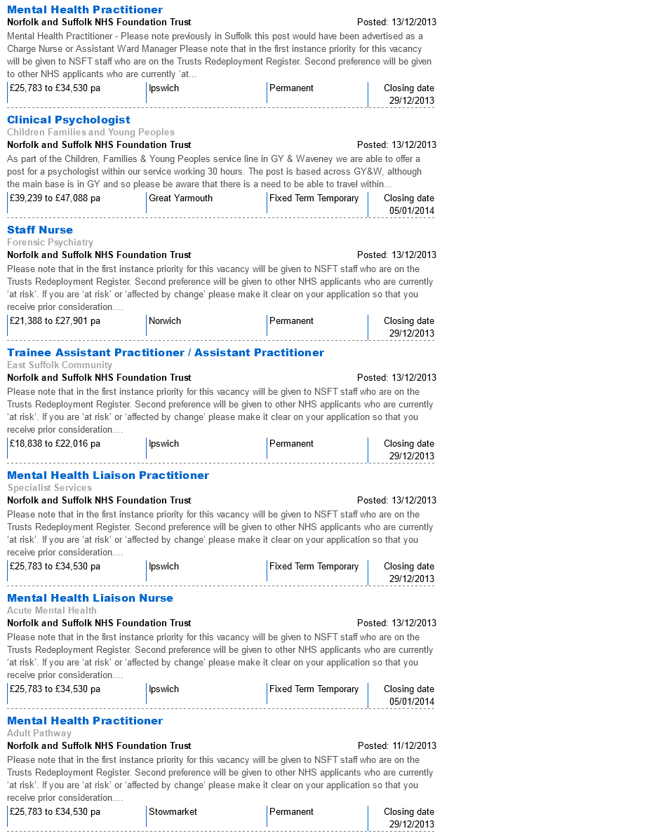 NHSJobs NSFT Vacancies 28.12.13 page 7
