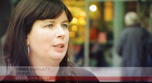 Video: Emma Corlett of Unison and the Campaign interviewed on BBC Look East as NSFT fails CQC inspection at Hellesdon Hospital