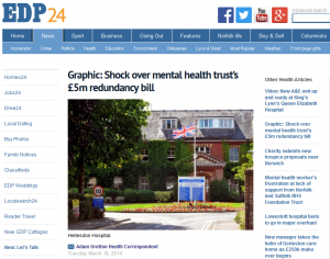 EDP - Graphic: Shock over mental health trust's £5m redundancy bill
