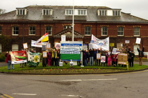 Gallery: Demonstration at Hellesdon Hospital 1st March 2014