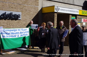 Gallery: Demonstration against Norman Lamb's 'cashless concordat'
