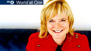 Newsflash: Listen to World at One on Radio 4 Friday 4th April 1300-1345