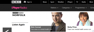 BBC Radio Norfolk: NSFT crisis in mental health services dominates morning schedule