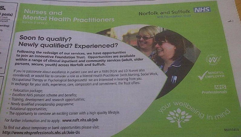 Unbelievable NSFT job advertisement