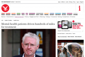 The Independent: Mental-health patients driven hundreds of miles for treatment