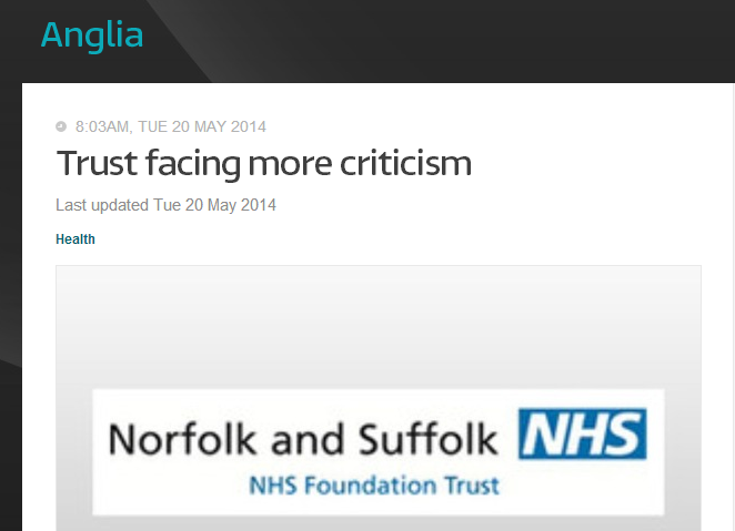 itv NEWS ANGLIA Trust facing more criticism