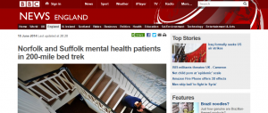 BBC: Norfolk and Suffolk mental health patients in 200-mile bed trek