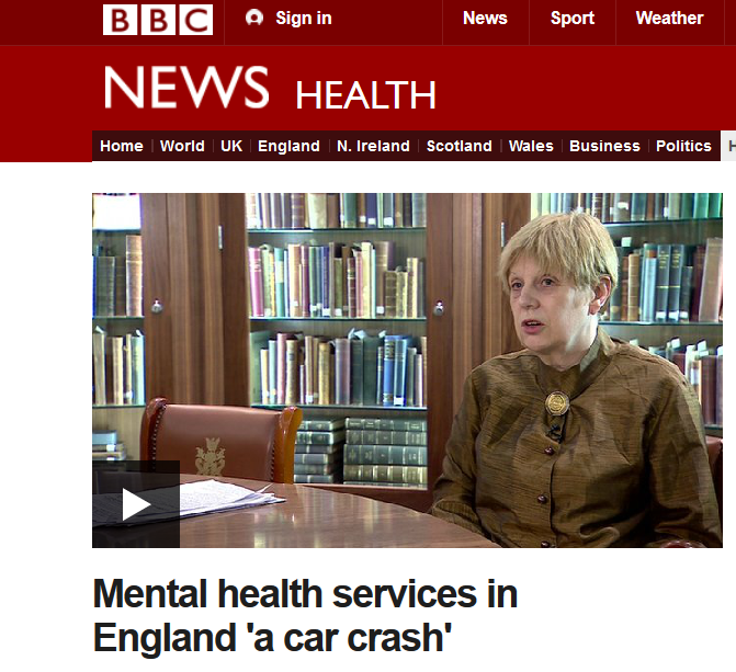 BBC Video Mental health services in England 'a car crash'