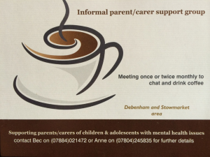 Launch: New and independent Parent & Carer Support Group (CAMHS)
