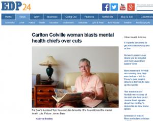 EDP: Carlton Colville woman blasts mental health chiefs over cuts