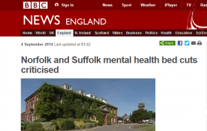 BBC Norfolk and Suffolk mental health bed cuts criticised