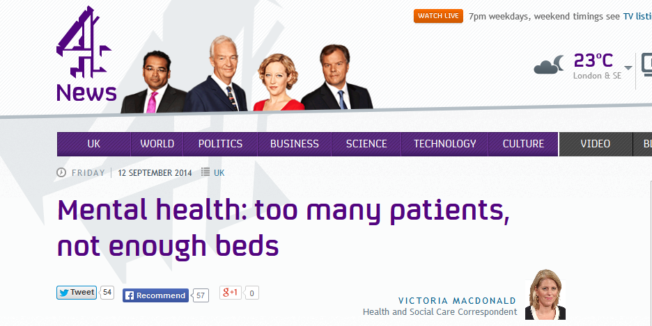 C4 News Mental health too many patients, not enough beds