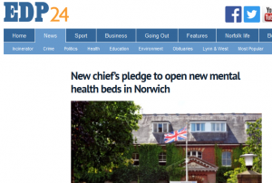 EDP: New chief's pledge to open new mental health beds in Norwich