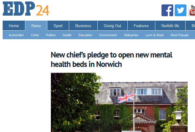 EDP New chiefs pledge to open new mental health beds in Norwich