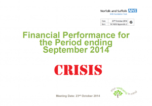 Financial Crisis: NSFT Financial Performance for the period ending September 2014