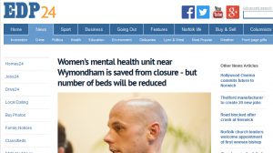 EDP: Women's mental health unit near Wymondham is saved from closure - but number of beds will be reduced