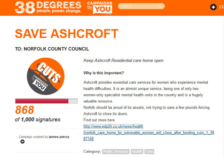 Save Ashcroft Petition
