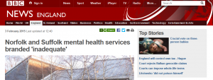 BBC News: Norfolk and Suffolk mental health services branded 'inadequate'