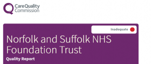 North Norfolk Branch Meeting: Experiences of NSFT for CQC inspection: 7 p.m. Tuesday 11th July, Cromer Football Club Clubhouse, Cabbell Park, Mill Rd, Cromer NR27 0BQ