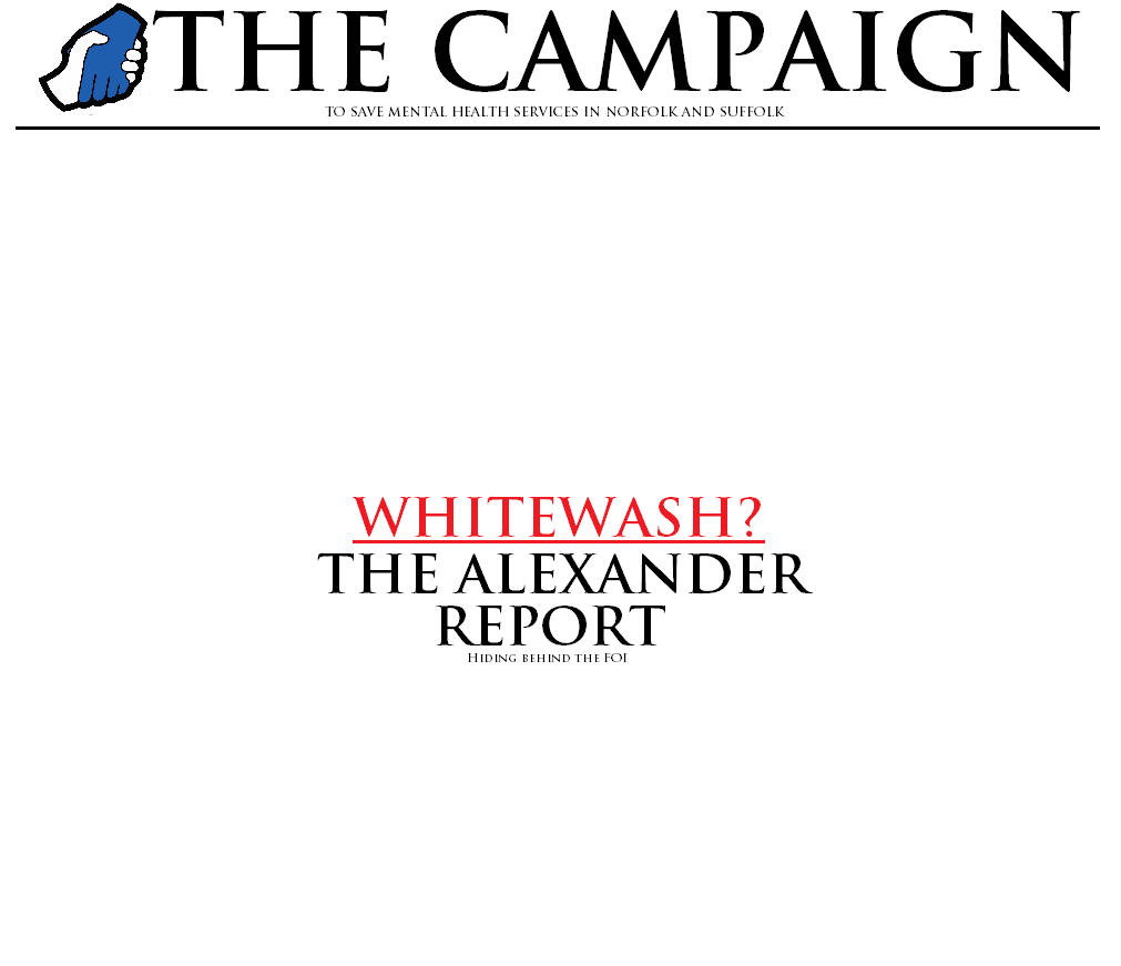 Whitewash The Alexander Report