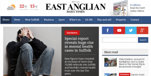 EADT: Special report reveals huge rise in mental health cases in Suffolk