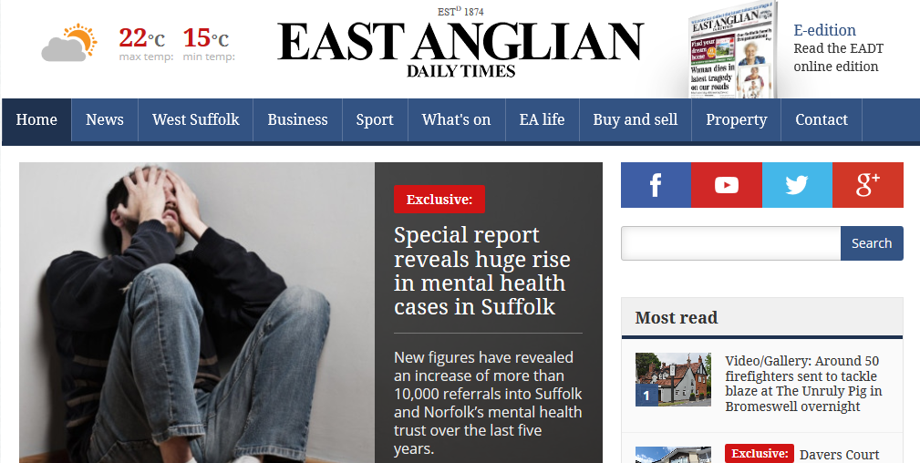 EADT Special report reveals huge rise in mental health cases in Suffolk