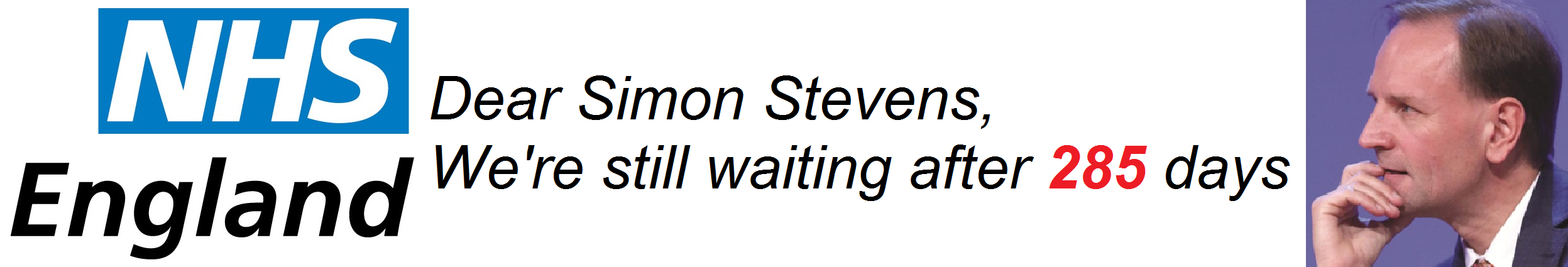 NHS England Simon Steven still waiting after 285 days