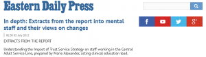 EDP: In depth: Extracts from the report into mental staff and their views on changes