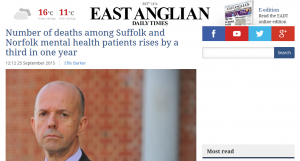 EADT: Number of deaths among Suffolk and Norfolk mental health patients rises by a third in one year