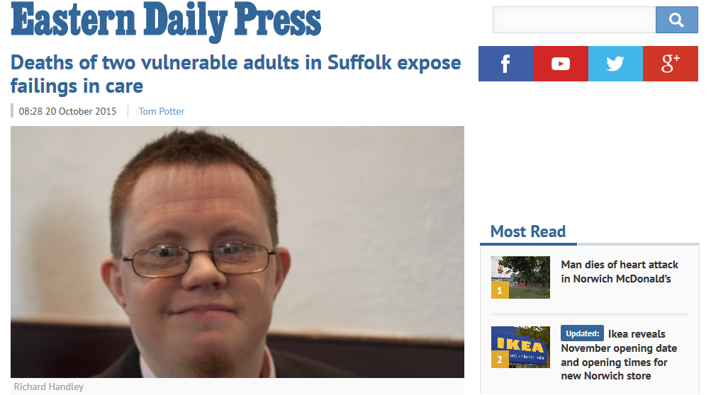 EDP Deaths of two vulnerable adults in Suffolk expose failings in care