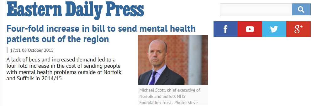 EDP Four-fold increase in bill to send mental health patients out of the region