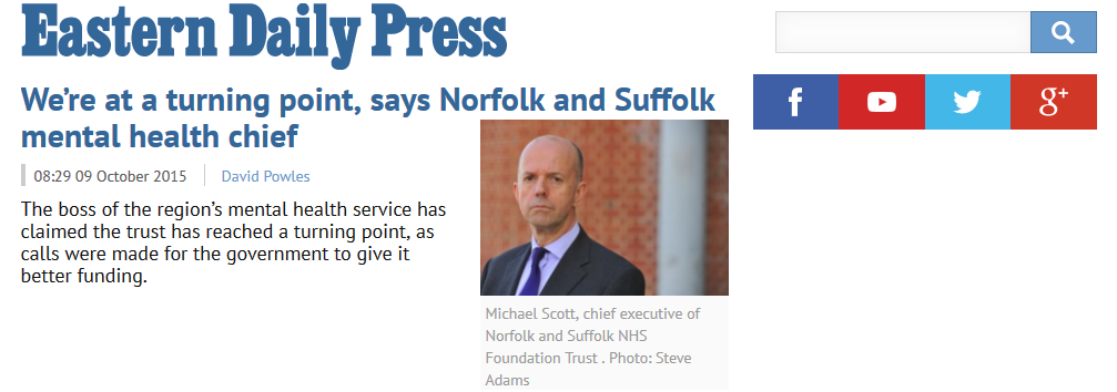 EDP We're at a turning point, says Norfolk and Suffolk mental health chief