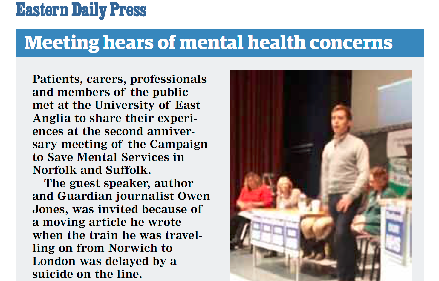 EDP Meeting hears of mental health concerns