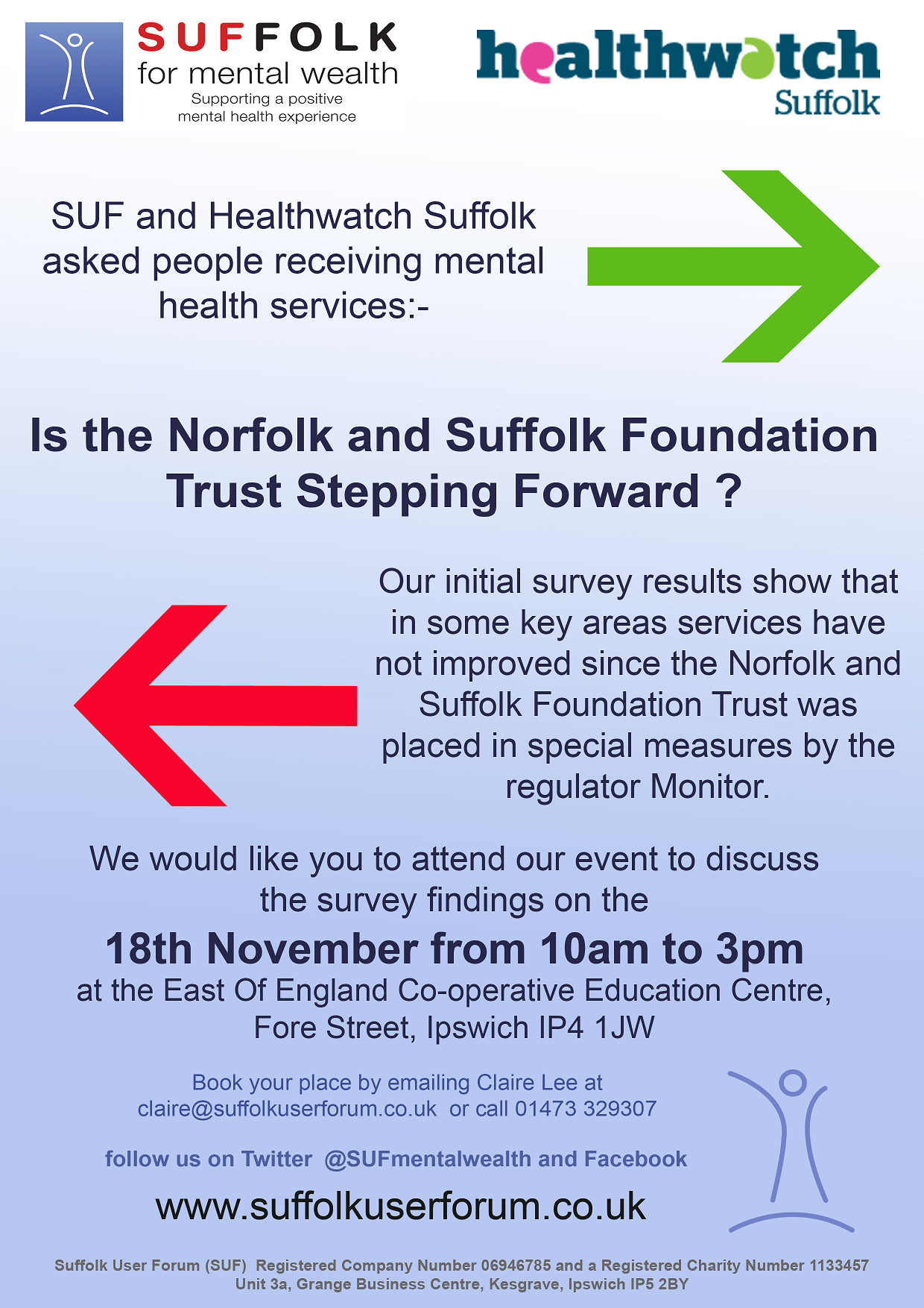 Healthwatch Suffolk Stepping Back Flyer