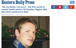 EDP: 'Tell my family I am sorry' - the first words of mental health patient Christopher Higgins after fall which would prove fatal