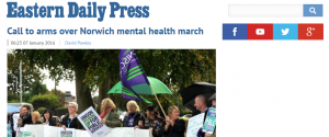 EDP: Call to arms over Norwich mental health march