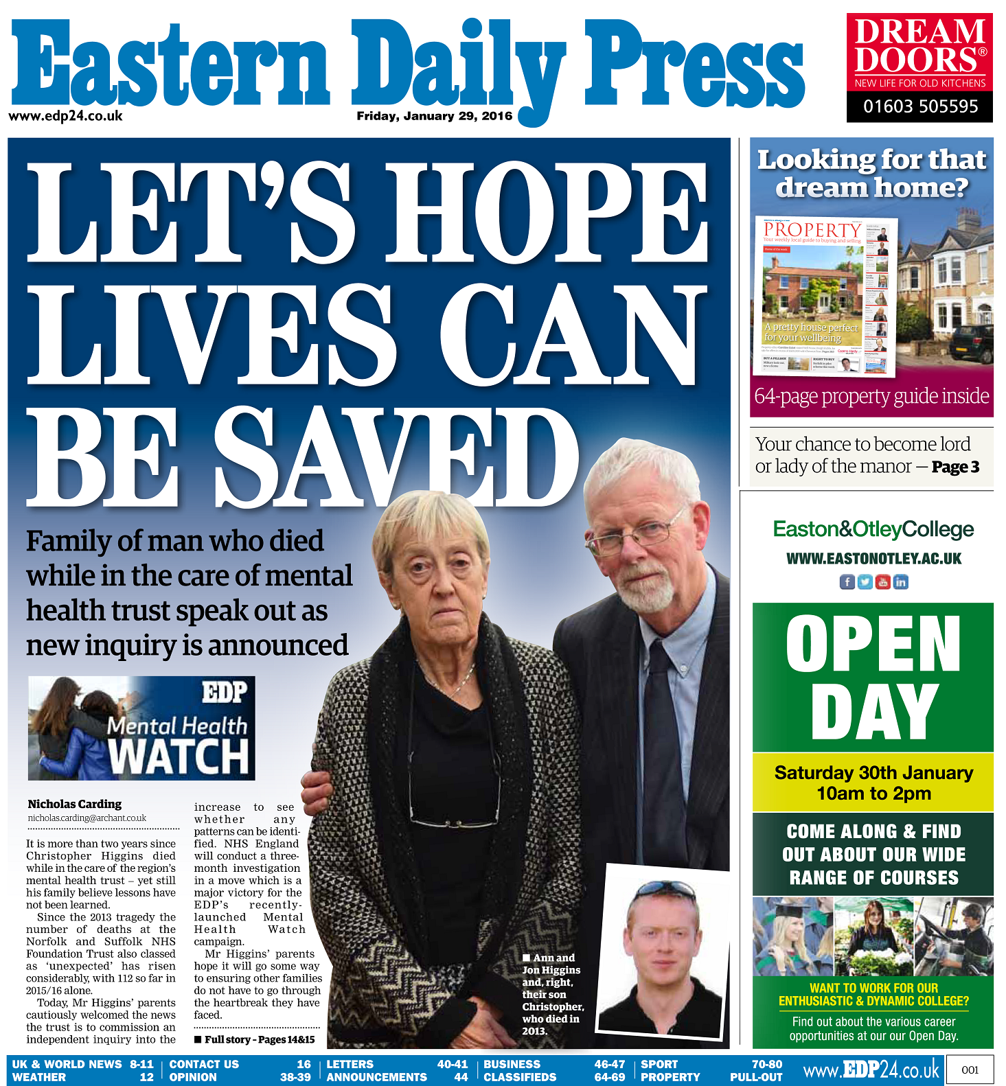 EDP Lets hope lives can be saved