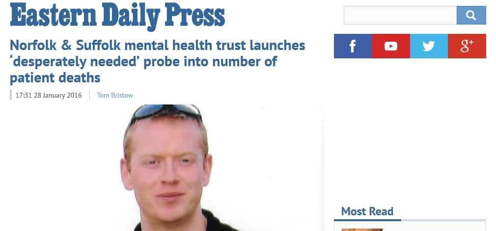 EDP Norfolk & Suffolk mental health trust launches desperately needed probe into number of patient deaths