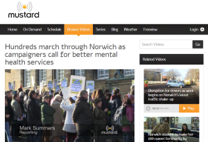 Mustard TV: Hundreds march through Norwich as campaigners call for better mental health services