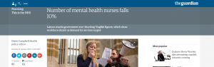 The Guardian Number of mental health nurses falls 10pc